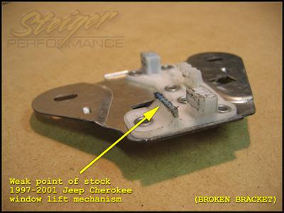 Power window regulator for 1999 jeep cherokee window regulator