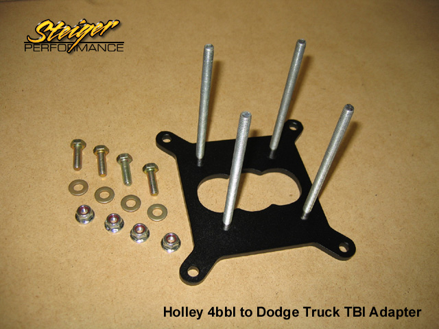 Steiger Performance - Holley 4bbl to Dodge Truck TBI Adapter