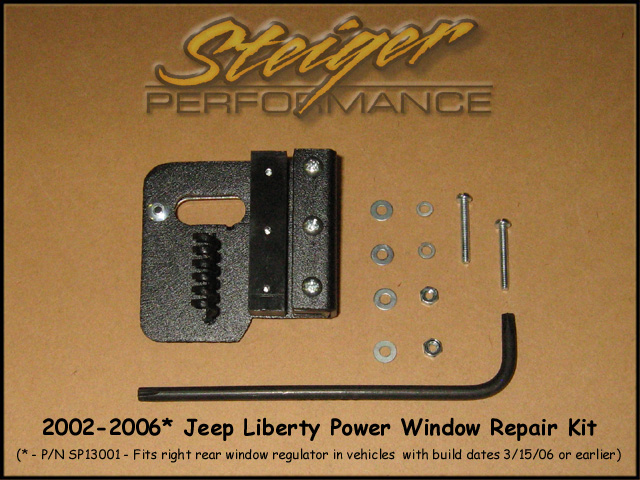 steiger performance jeep liberty power window regulator repair kitsp13001 right rear kit click for larger pic