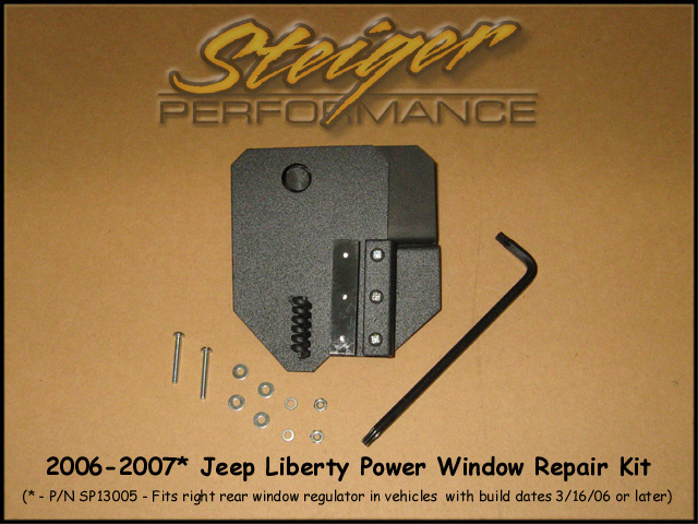 Steiger Performance Jeep Liberty Power Window Regulator Repair Kit